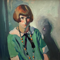 The Green Dress Jane Peterson