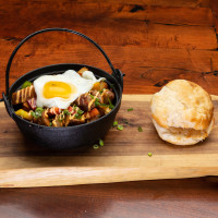 Egg hash and biscuit