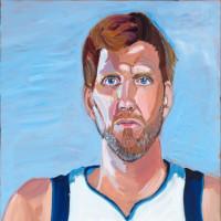 Dirk Nowitzki portrait by George W. Bush