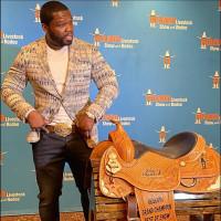 50 Cent Rodeo Houston saddle
