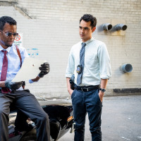 Chris Rock and Max Minghella in Spiral