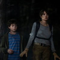 Finn Little and Angelina Jolie in Those Who Wish Me Dead