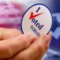 Voted button election