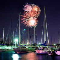Fireworks over Lake Grapevine