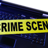 crime scene, laptop, computer