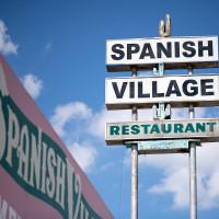 Spanish Village restaurant sign