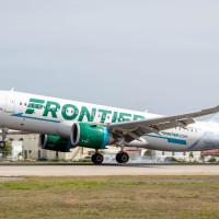 Frontier Airlines plane Salt Lake city