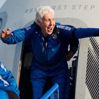Wally Funk aboard Blue Origin New Shepard