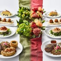 steak and veggie dishes