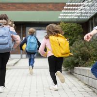 children child school backpack student