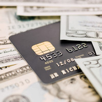Credit card and cash