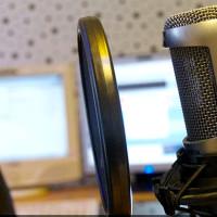 radio microphone studio host