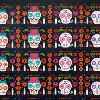 Day of the Dead stamps