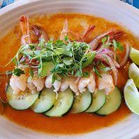 Shrimp aguachile Fish Lonja San Antonio