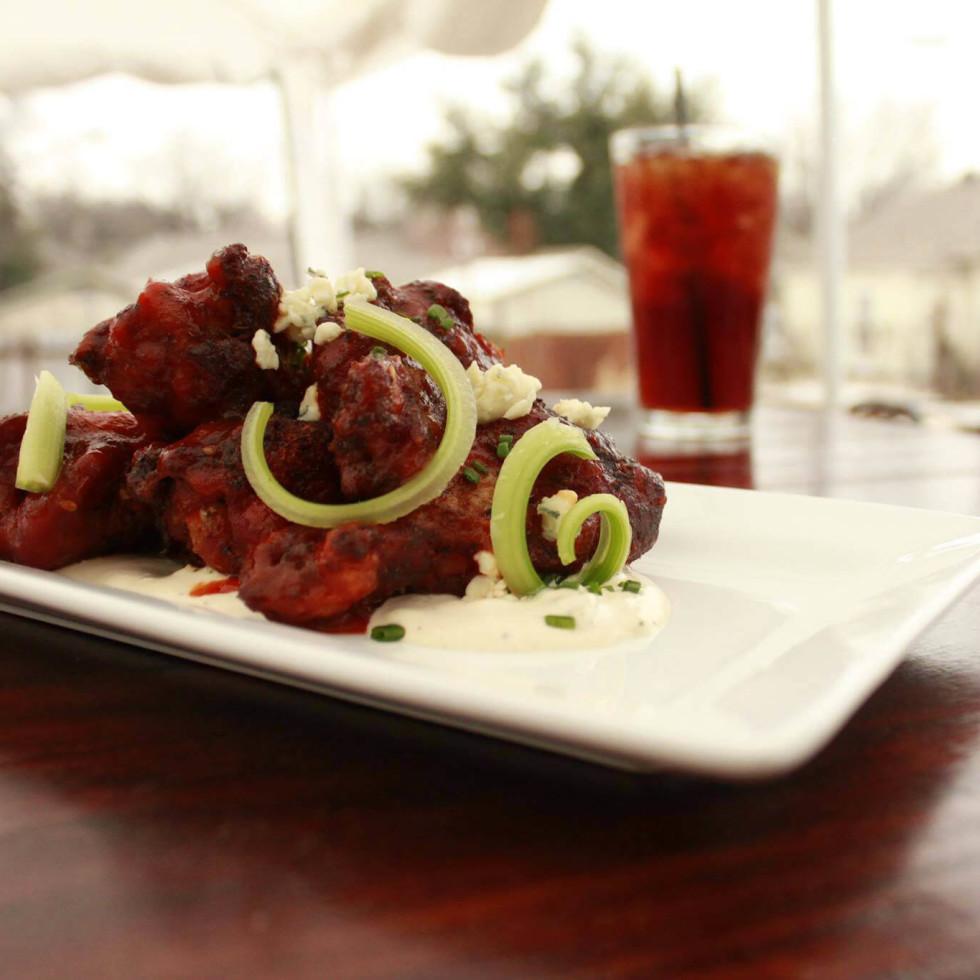 Chicken wings at Ten Bells Tavern in Dallas