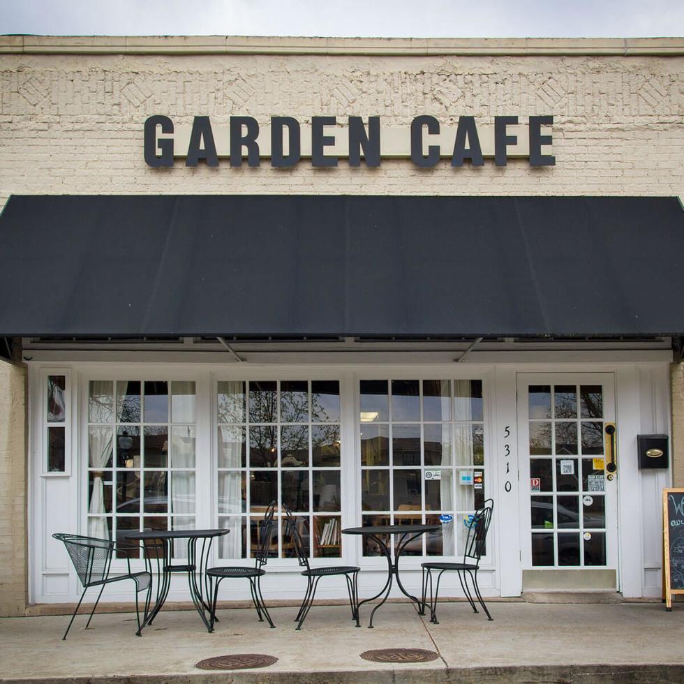 Exterior of Garden Cafe in Dallas