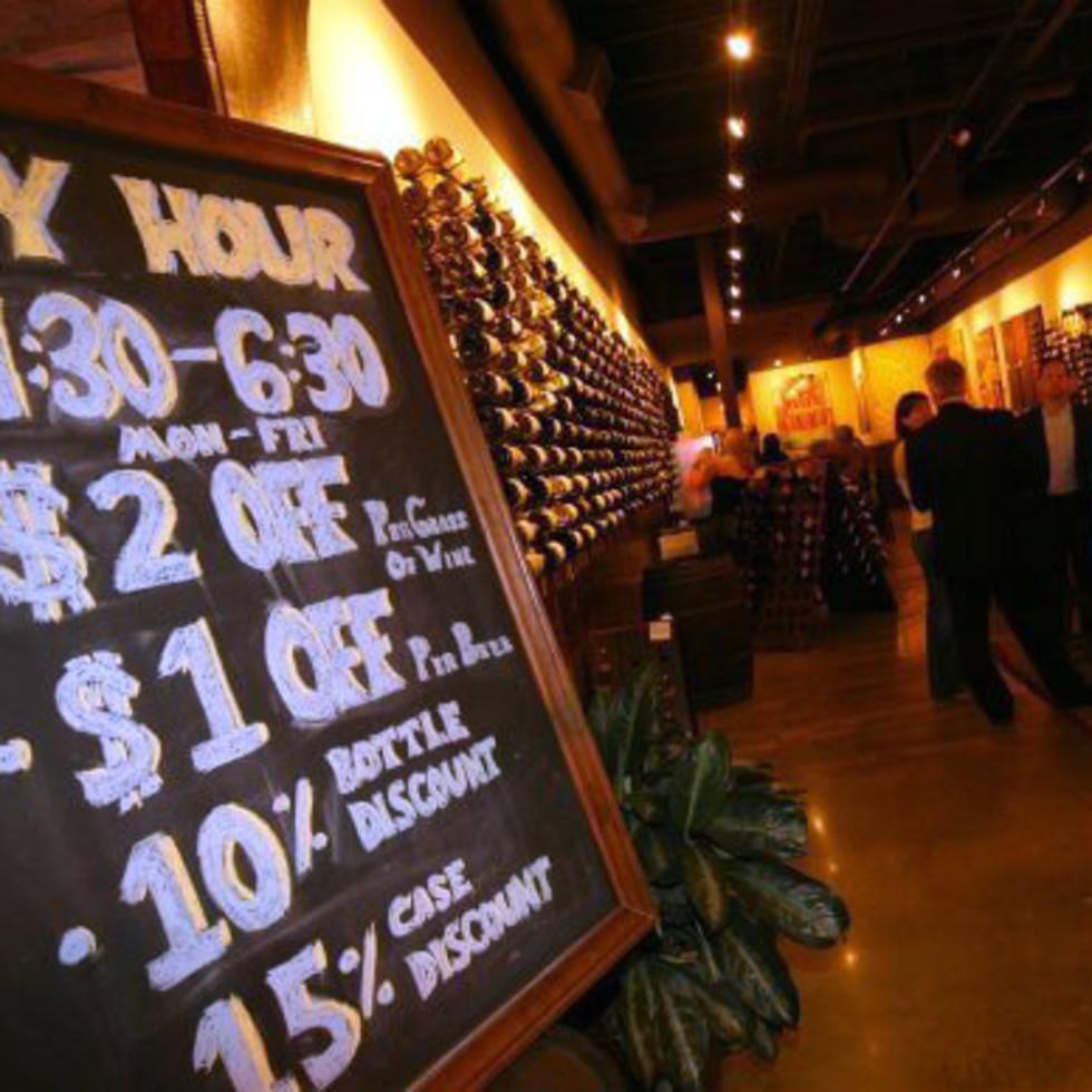 Interior of Veritas Wine Room Dallas
