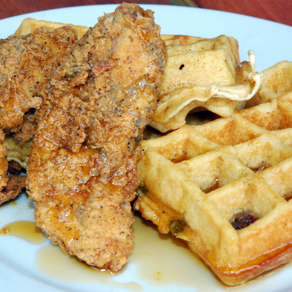 Gluten-free chicken and waffles at Company Cafe in Dallas