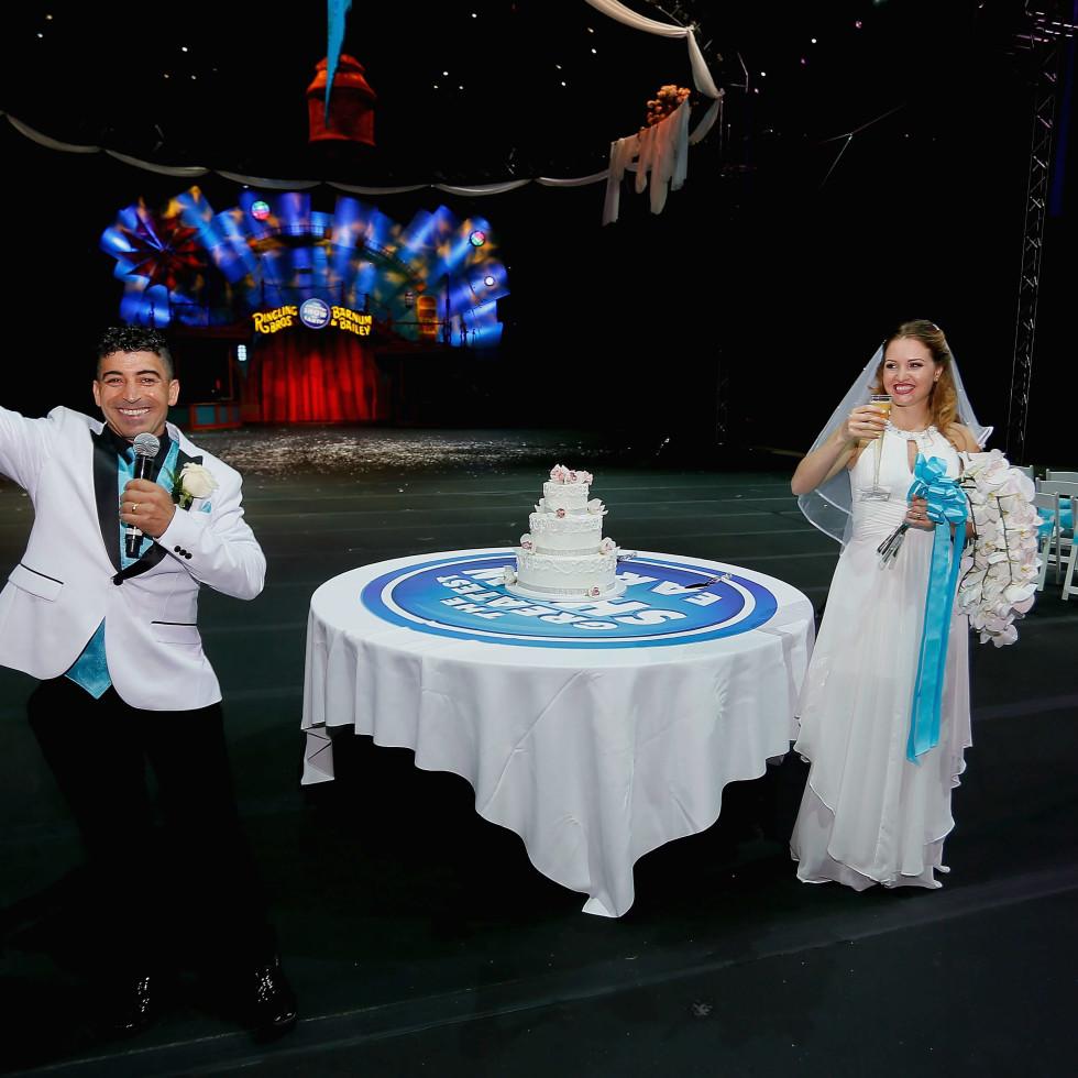 Ringling Bros. wedding,  Mustafa Danguir and Anna Lebedeva,, July 2016