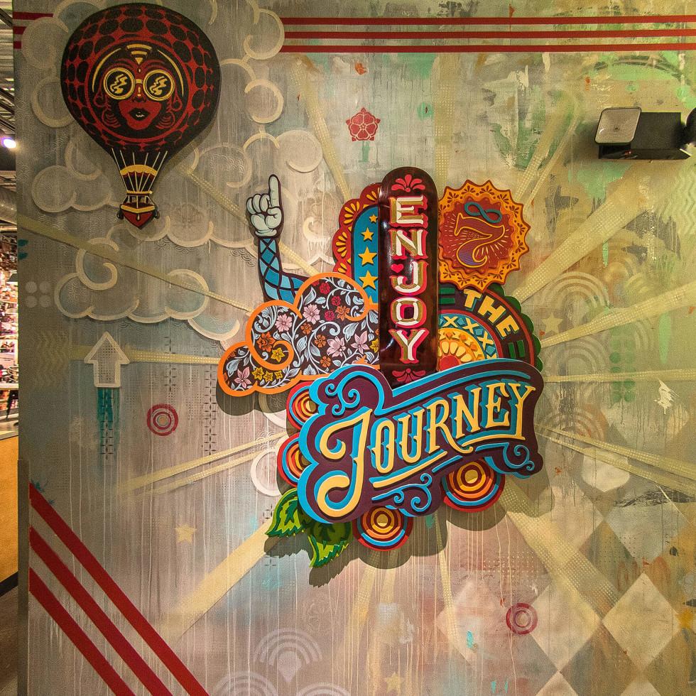 Bradford Maxfield Austin street artist MOD Pizza mural