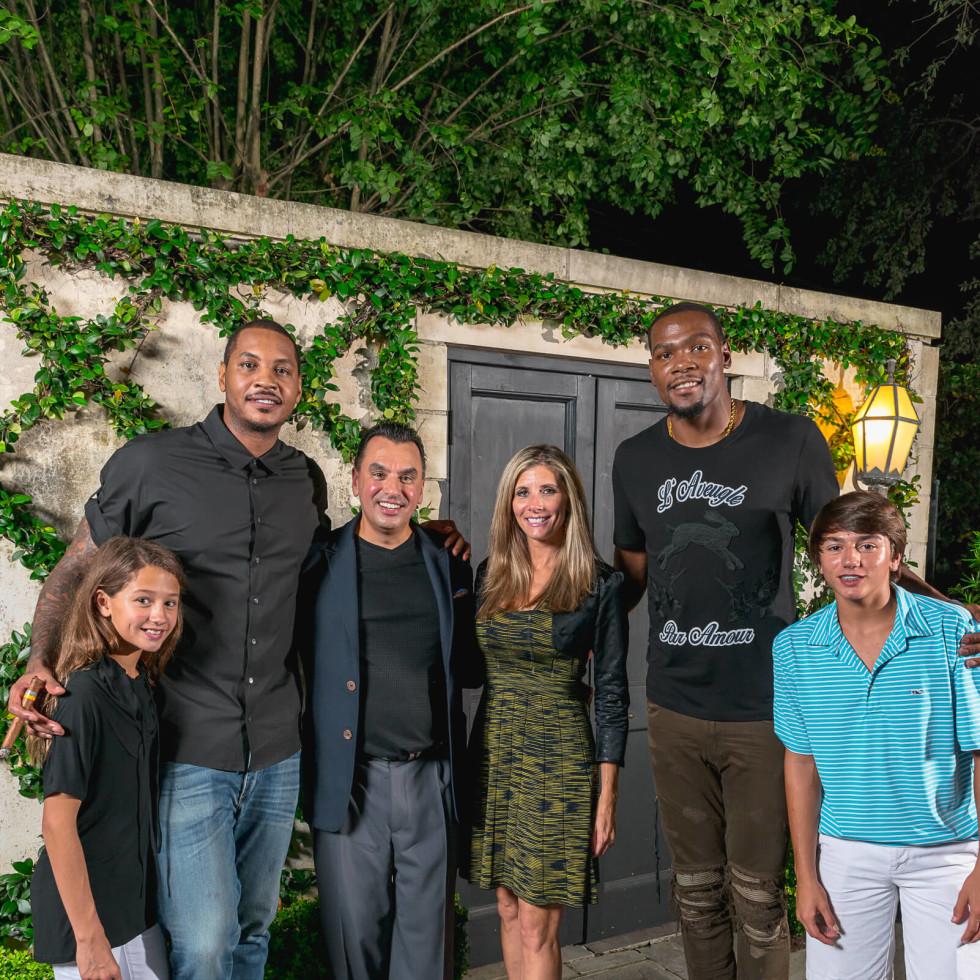 Olympic Basketball party 7/16, Mia Devinder, Carmelo Anthony, Devinder Bhatia, Gina Bhatia, Kevin Durant, Drake Bhatia,