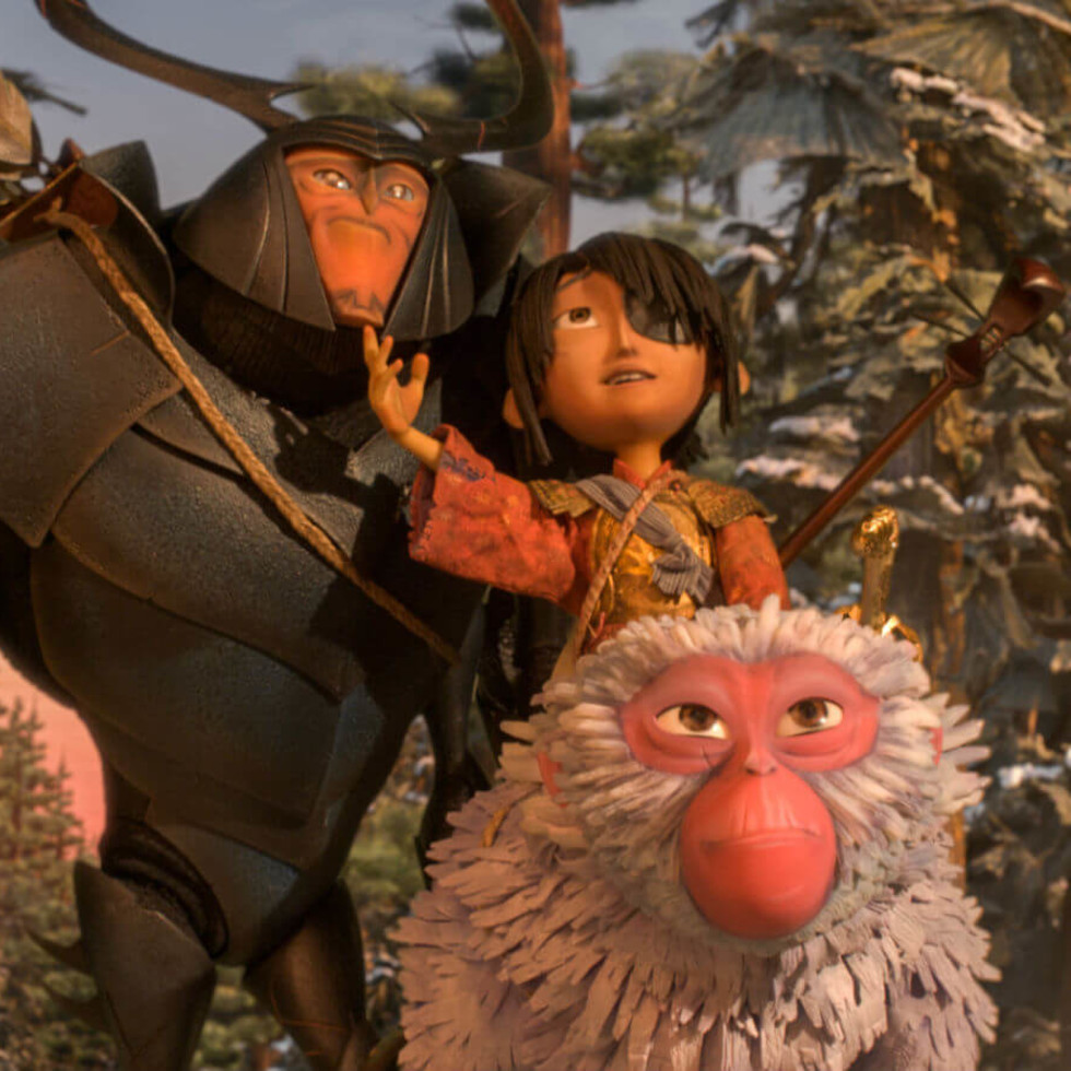 Beetle, Kubo, and Monkey in Kubo & the Two Strings