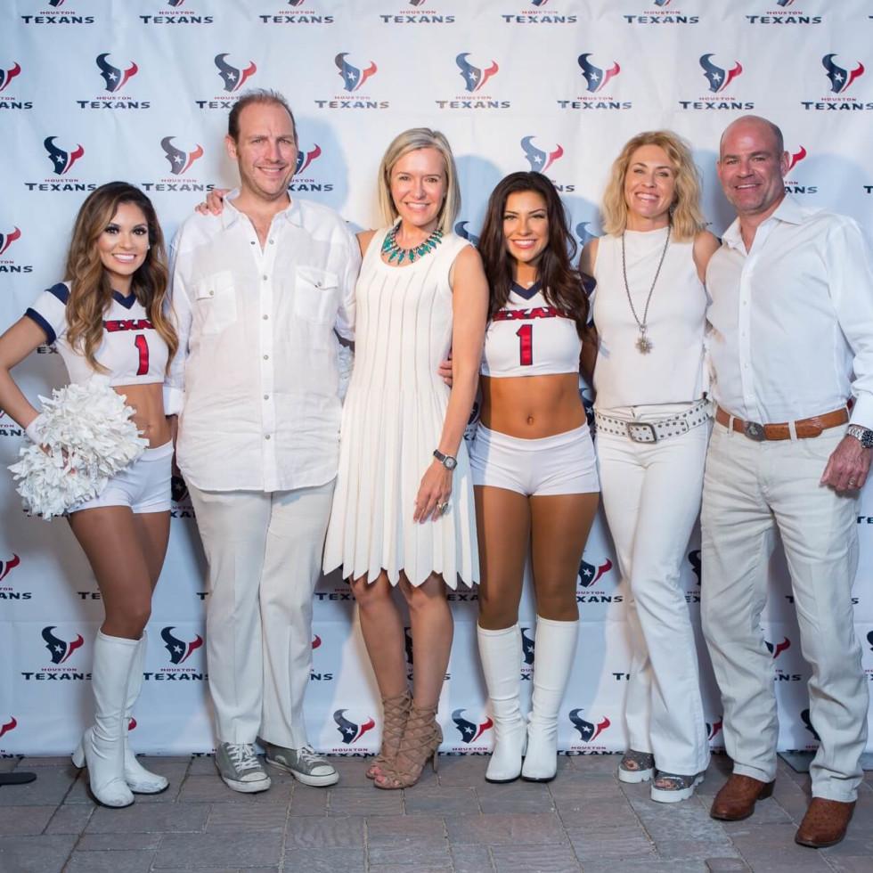 Loya Texans White Out party, 9/16 Aj Brass, Katie Brass, Amy Murchison, Hardy Murchison