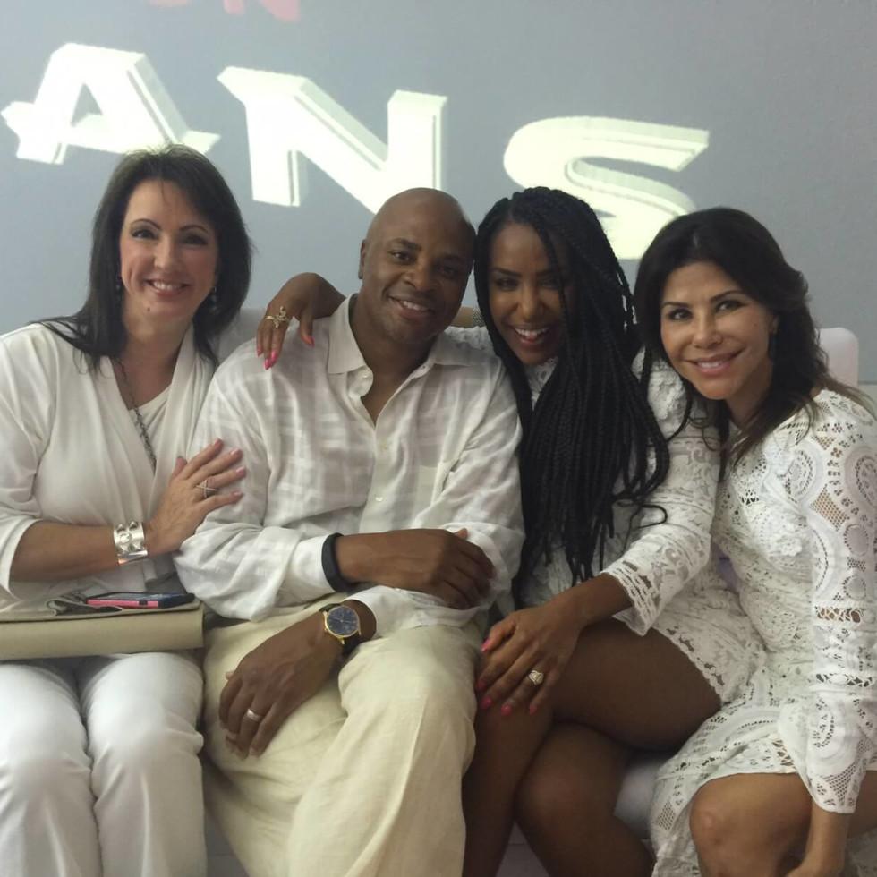 Loya Texans White Out party, 9/16 Alicia Smith, Rick Smith, Tiffany Smith, Ericka Bagwell