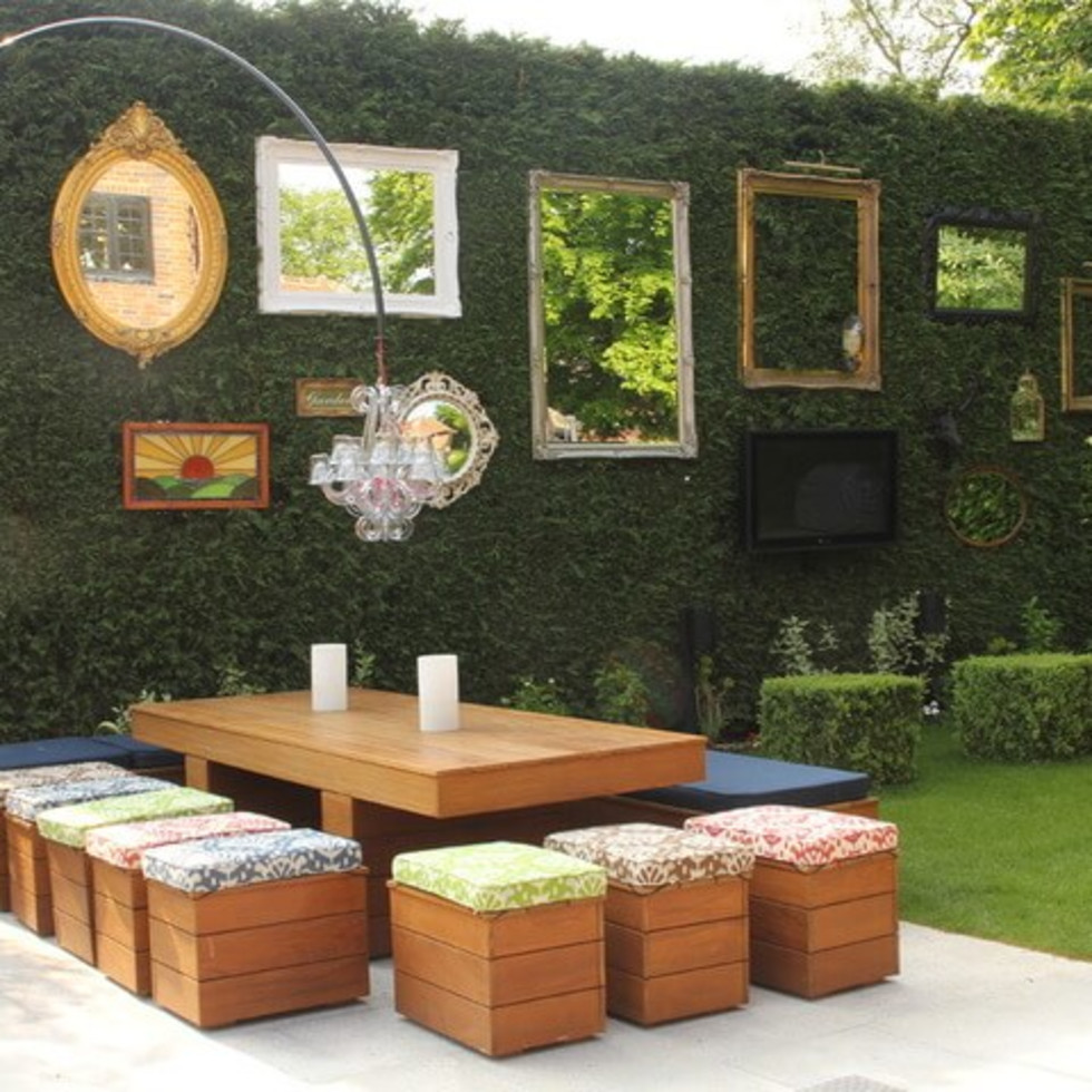 Houzz rustic chic garden backyard
