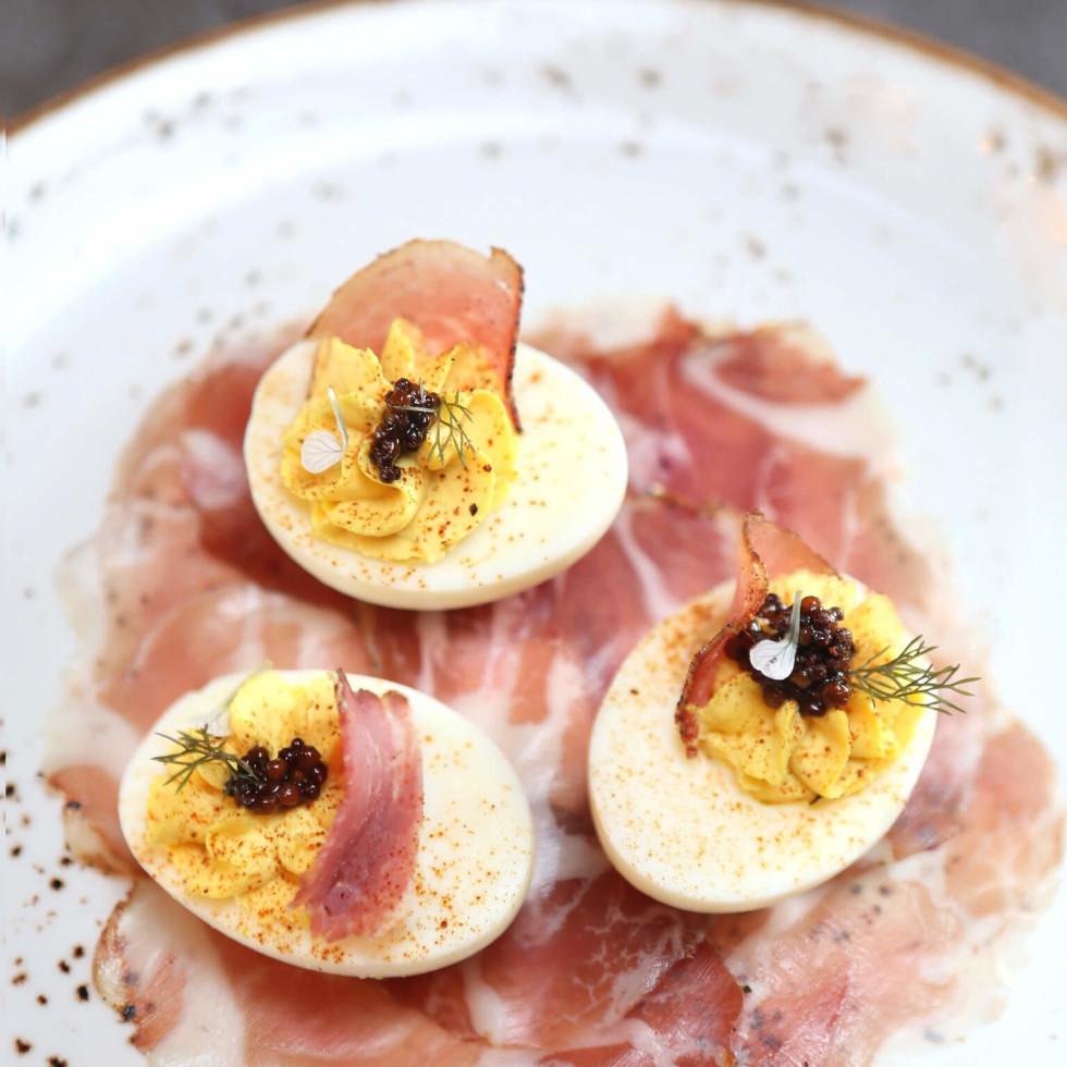 Bacon Bros deviled eggs