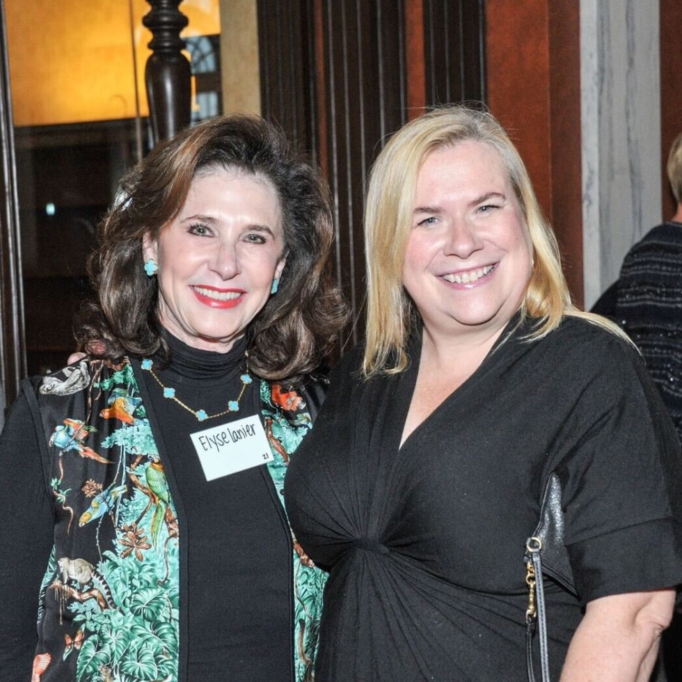 Elyse Lanier, Julie Mason, Hobby Center for Public Policy lunch