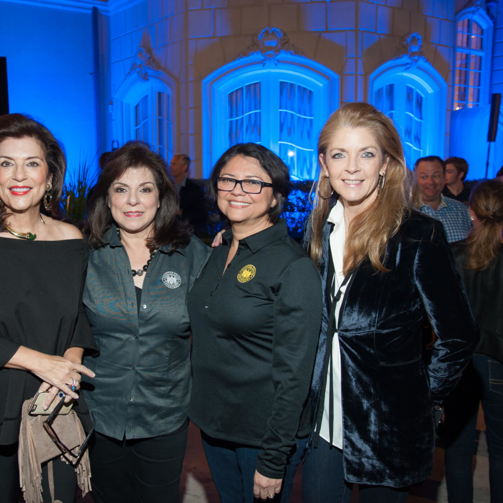 Houston, HPD True Blue Gala, Oct. 2016, Dancie Ware, Laura Ward, interim Houston Police chief Martha I. Montalvo, Paige Fertitta