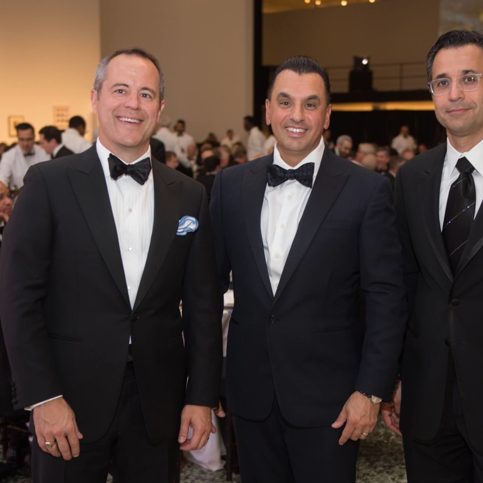 Troy Thacker, Devinder Bhatia, Mohammed Etmiman at One Great Night in November