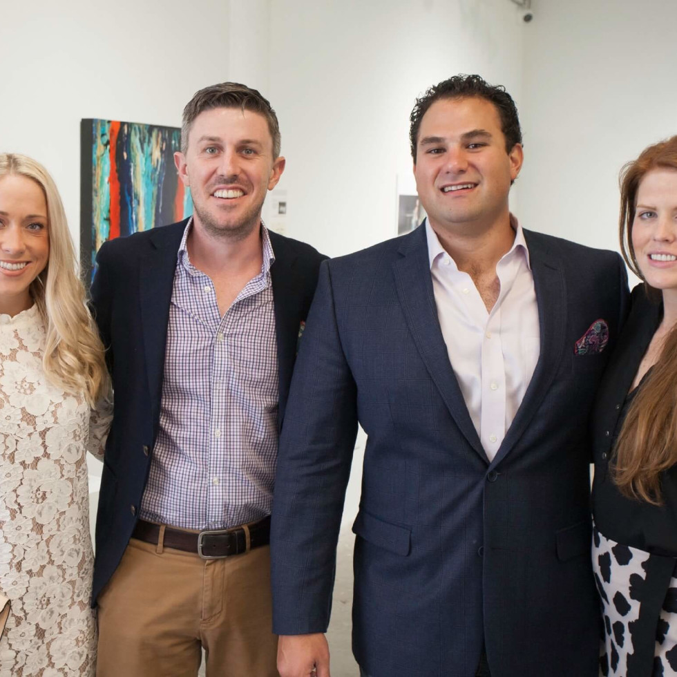 Art on the Avenue guests (pictured from left) Rocki and Doug Oehl, along with Cameron and Maddie Palmore.
