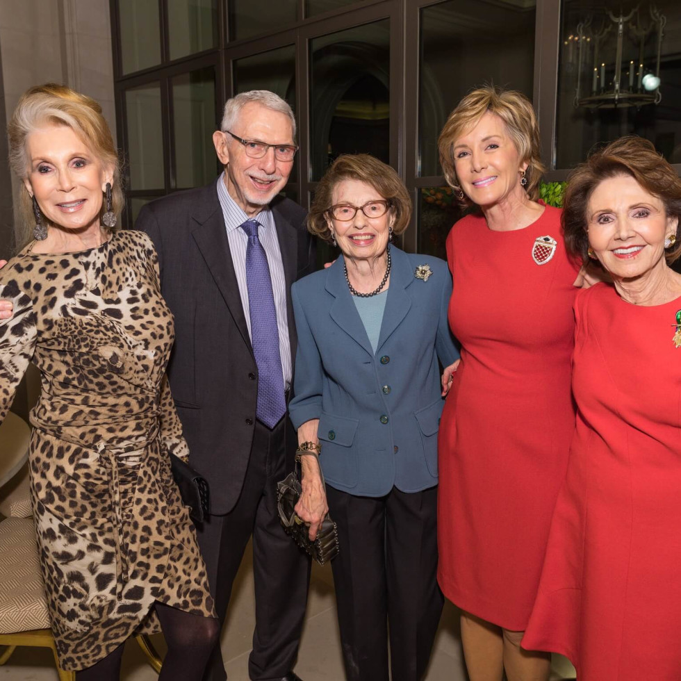 Joan Schnitzer Levy, Melvyn Wolff, Shirley Toomim, Sheridan Williams, Cyvia Wolff at MD Anderson 75th anniversary gala