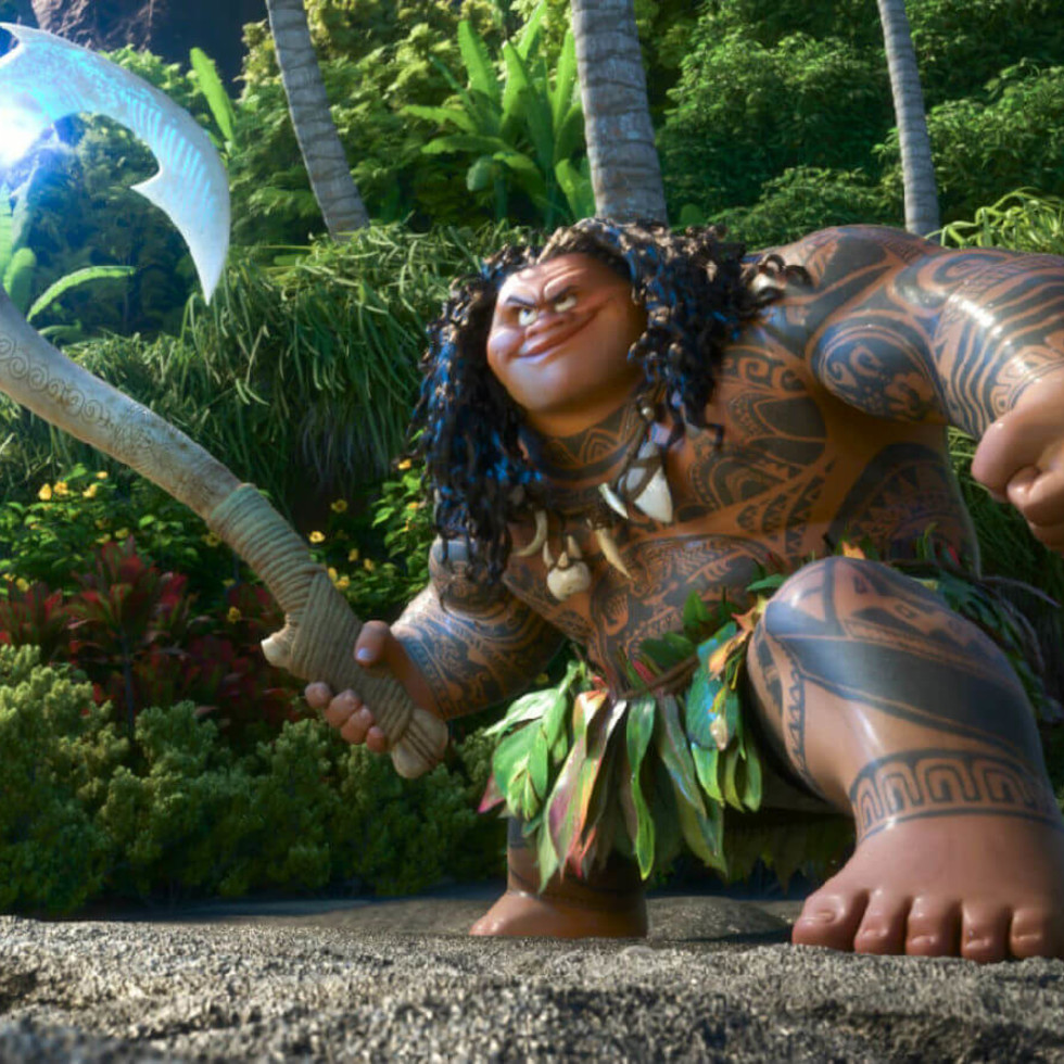 Maui (Dwayne Johnson) in Moana