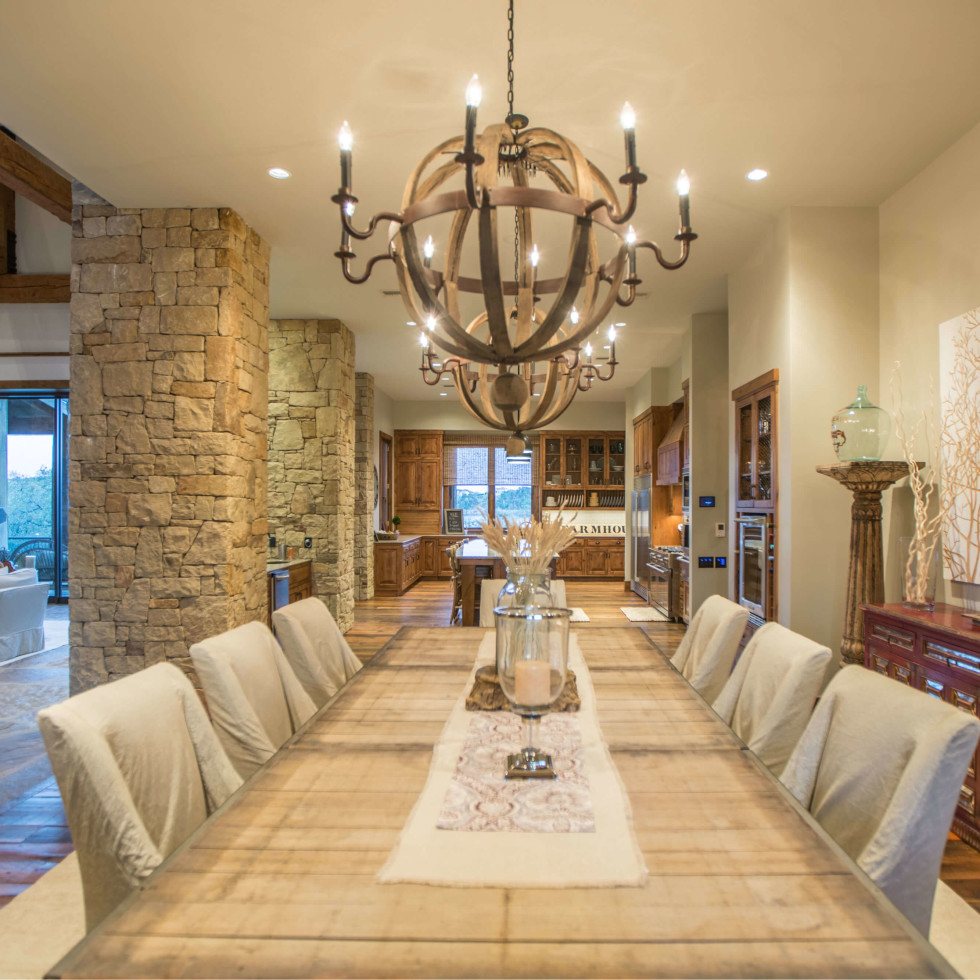 1920 Valentino Cove Lake Travis Spicewood house for sale dining room