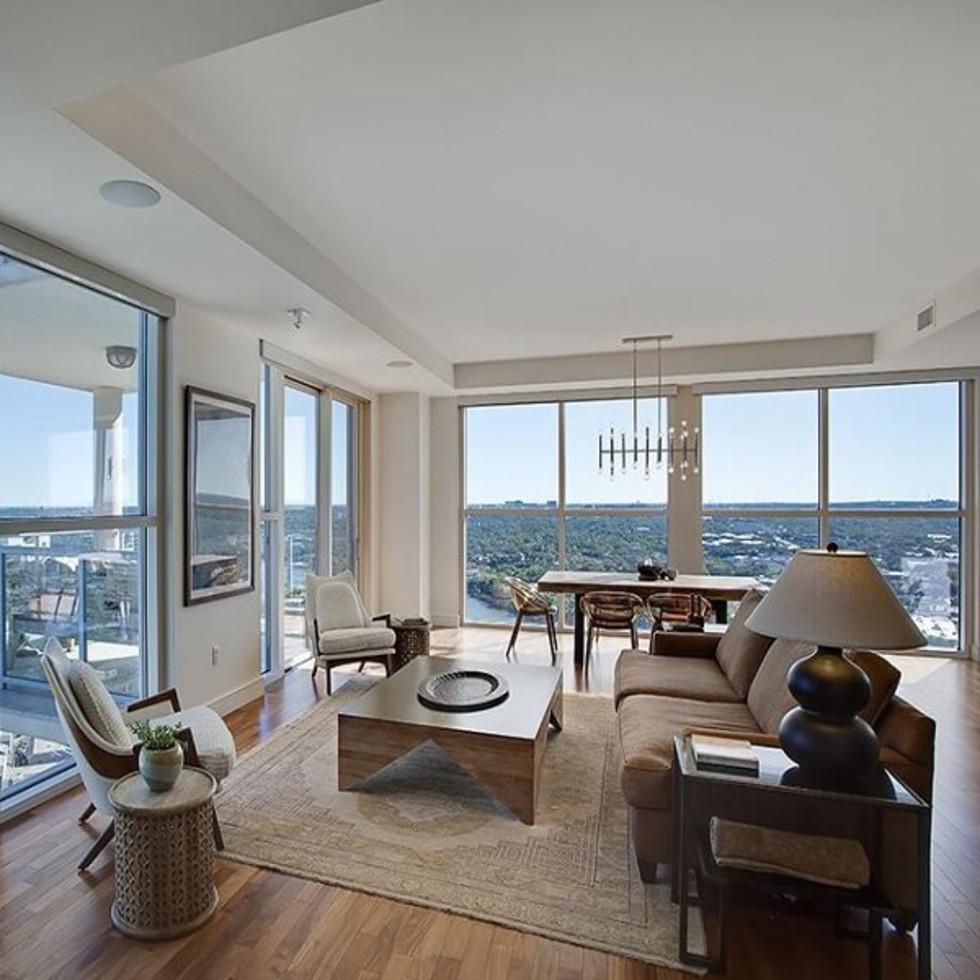 RENTCafe Most Expensive Rental Homes Texas September 2015 Austin condo 98 San Jacinto Boulevard Unit 2604 Four Seasons downtown 78701