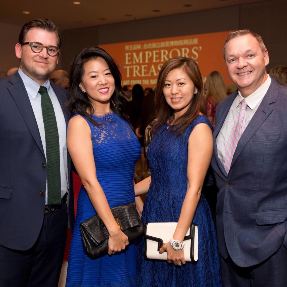 MFAH Emperors Treasures dinner, Joshua Ghormley, Annie Ghormley, Michelle O'Brien, Keith O'Brien