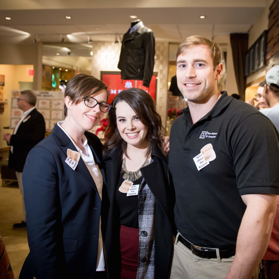 Cancer Below the Belt fundraiser, Bambi Hanna, Ashley Arter, Austin MAteer