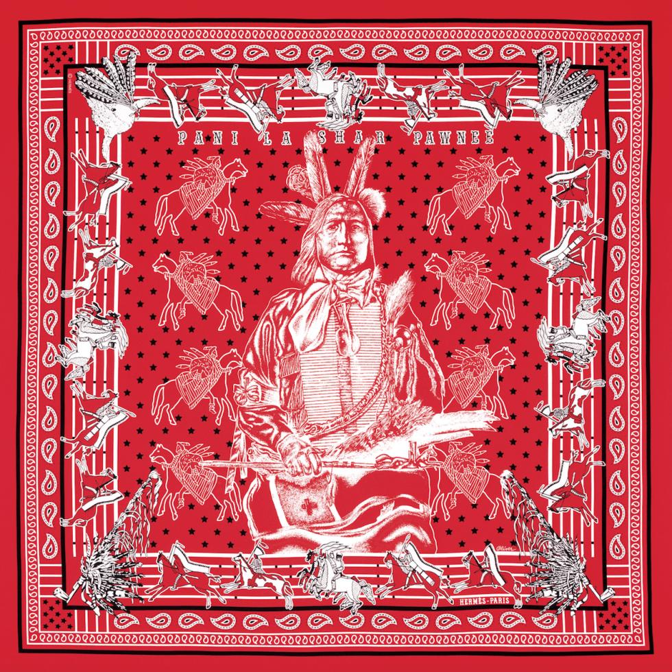 Hermes bandana designed by Kermit Oliver