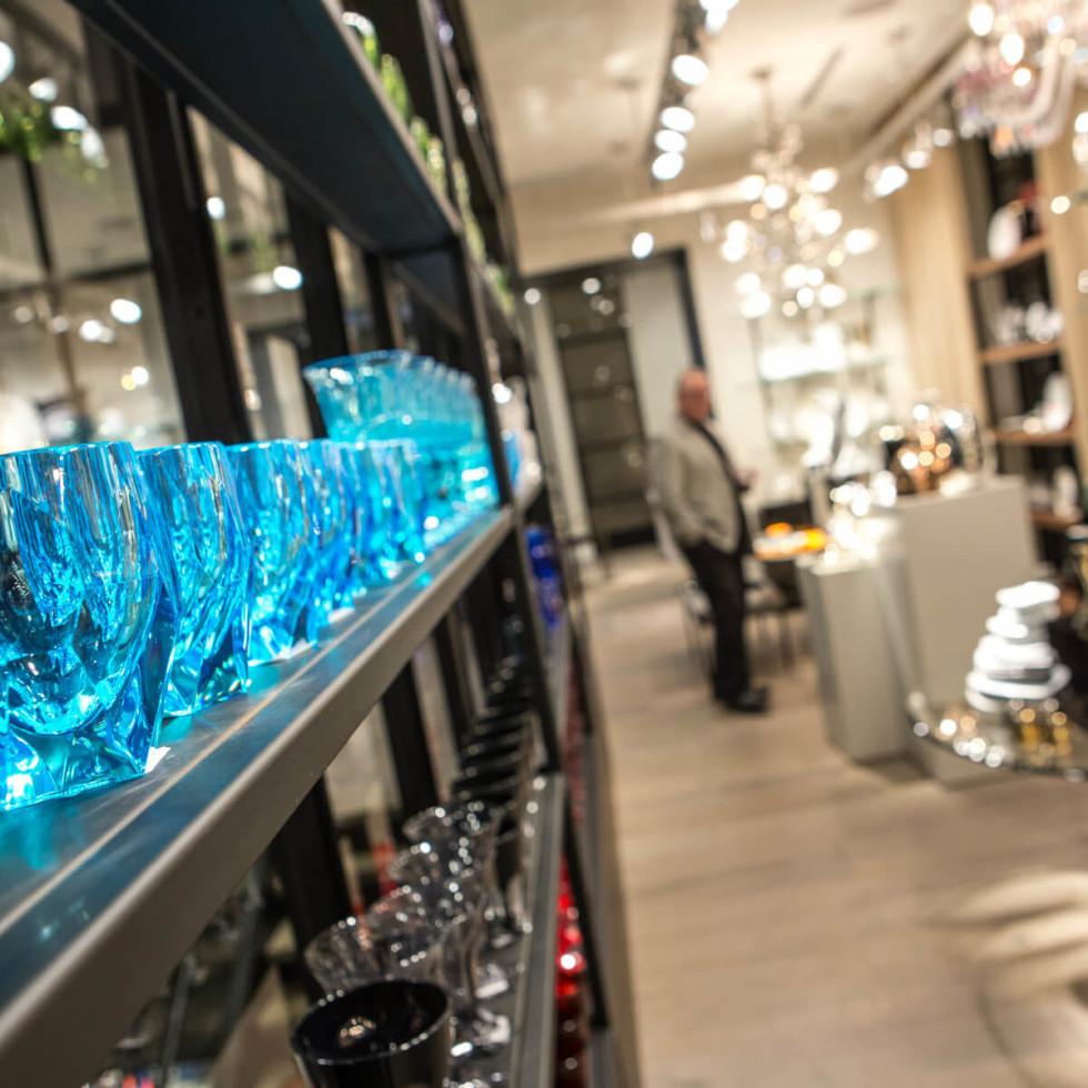 Glassware at Forty Five Ten on Main in Dallas