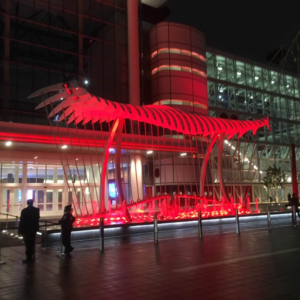 Wings over Water sculpture in front of George R. Brown Convention Center