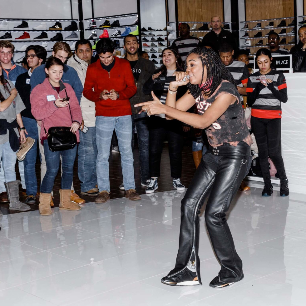 Ingrid performs at launch of New Balance 247 line at Shoe Palace