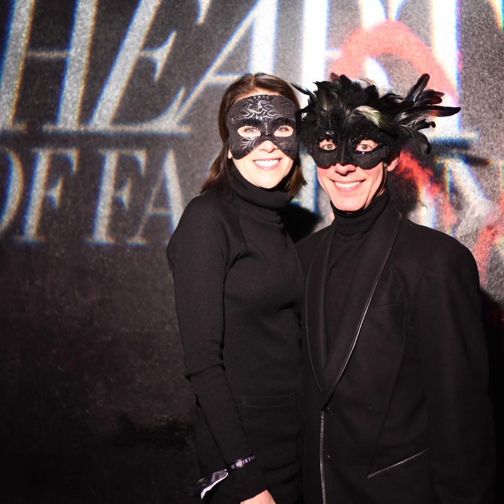 Delise Ward, Craig Lidji at Heart of Fashion Masquerade Ball