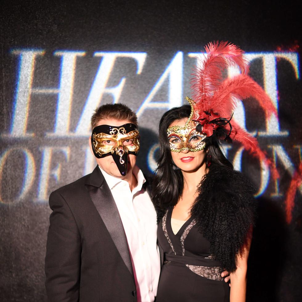 Hank Fasthoff, Maya Fasthoff at Heart of Fashion Masquerade Ball