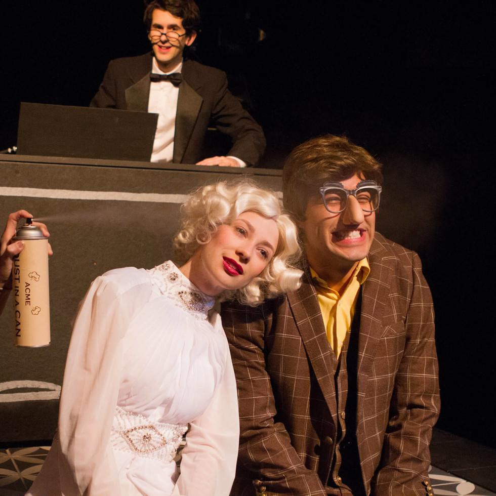 Ashlee Elizabeth Bashore, Wayne Barker, Debbie Crawford, and Magdiel Carmona in Laugh at Theatre Three
