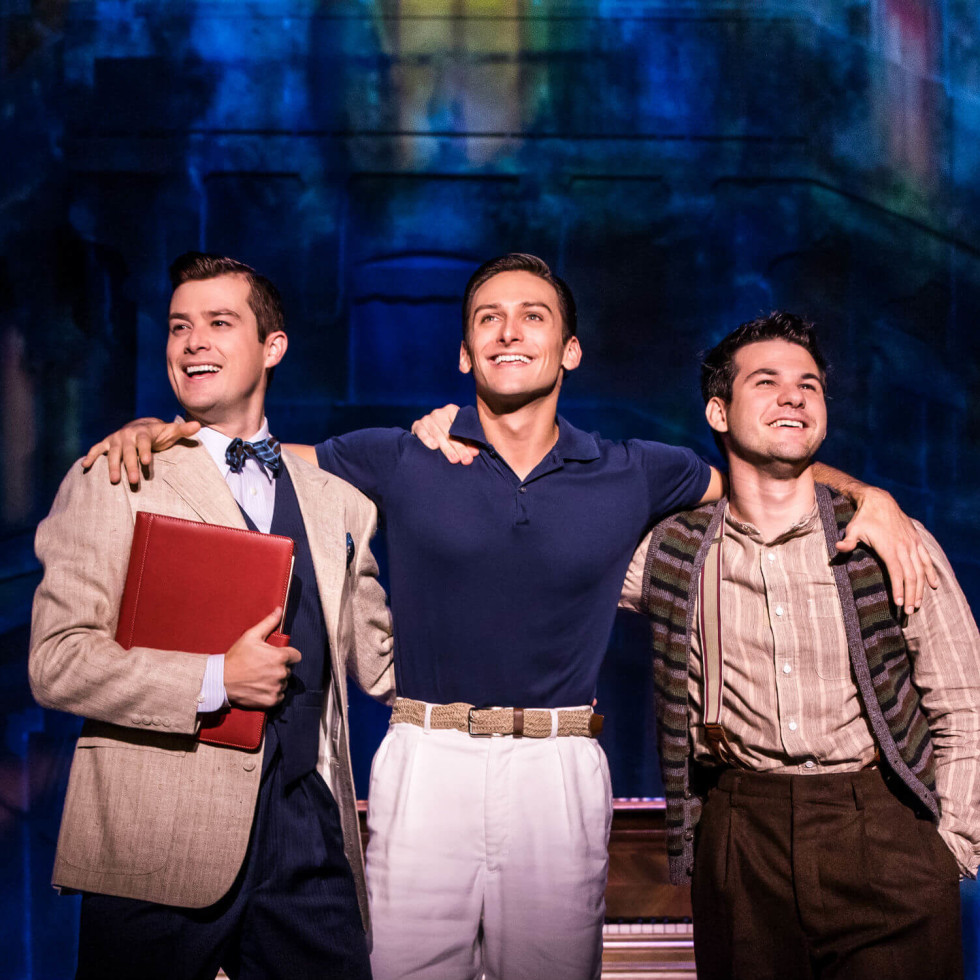 Nick Spangler, Garen Scribner, and Etai Benson in An American in Paris