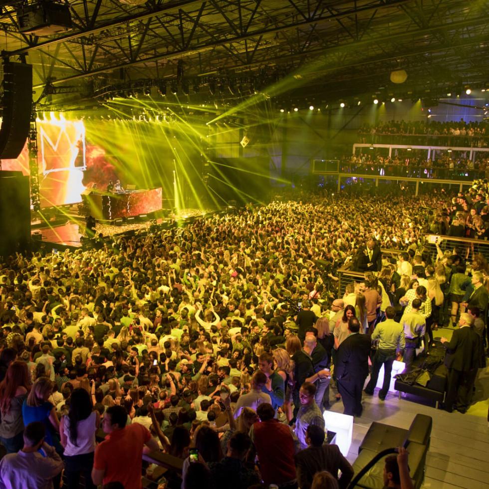 Houston, EA Sports Bowl at Club Nomadic, Jan 2016, the crowd