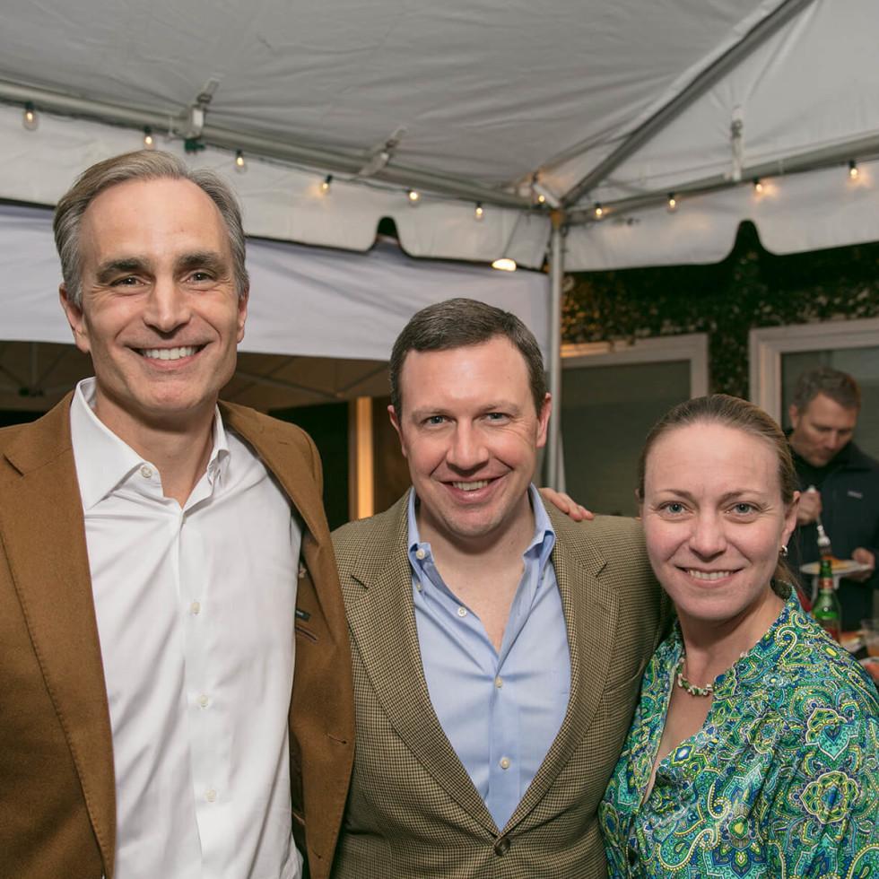 Big Game Party David Gow, David Suttles, Sarah Suttles